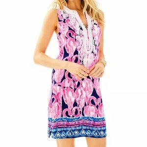 Beautiful Flamingo Print Lily Dress